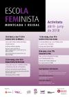 Cartell del programa d'activitats de l'Escola Feminista d'abril al juny
