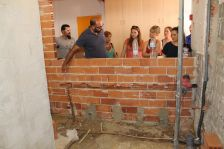 Visita d'obres a l'escola El Turó