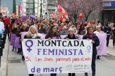 Vaga feminista a Montcada i Reixac, el 8 de març de 2018