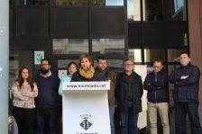 L'alcaldessa dóna lectura al manifest amb motiu de l'homenatge a les víctimes del terrorisme