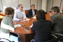 Reunió del govern municipal amb el coordinador de Rodalies, Pere Macias